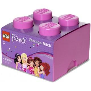 LEGO Friends úložný box 250x250x180mm - růžový