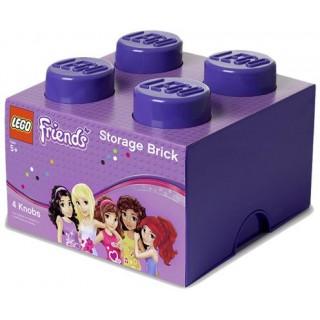 LEGO Friends úložný box 250x250x180mm - fialový