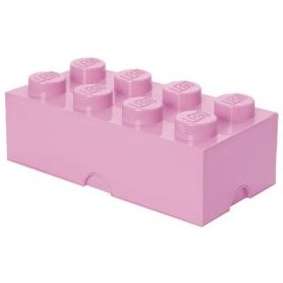 LEGO úložný box 250x500x180mm - světle růžový