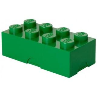 LEGO box na svačinu 100x200x75mm - tmavě zelený
