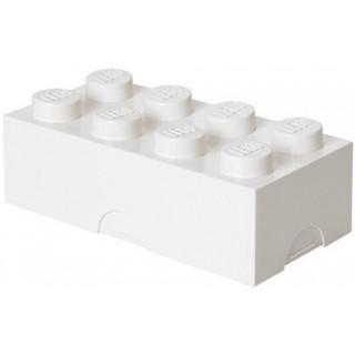 LEGO box na svačinu 100x200x75mm - bílý