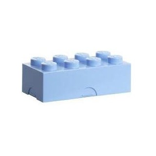 LEGO box na svačinu 100x200x75mm - světle modrý