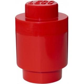 LEGO úložný box kulatý o123x183mm - červený