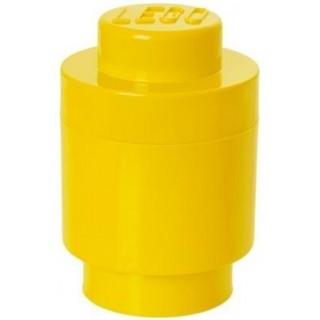 LEGO úložný box kulatý o123x183mm - žlutý