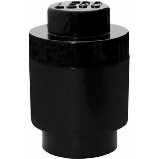 LEGO úložný box kulatý o123x183mm - černý