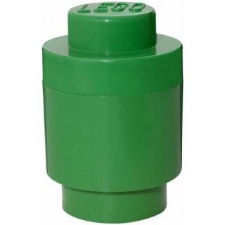 LEGO úložný box kulatý o123x183mm - tmavě zelený