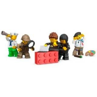 LEGO láhev na pití - transparentní červená