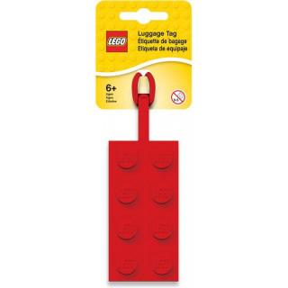 LEGO jmenovka na zavazadlo kostka 2x4 červená