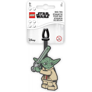 LEGO jmenovka na zavazadlo Star Wars Yoda
