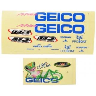 Miss Geico 17 - samolepky