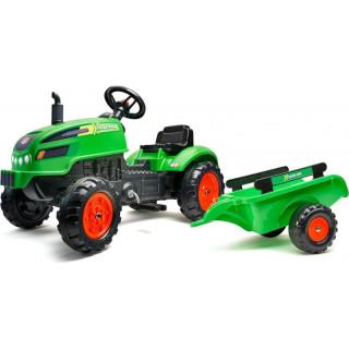 FALK - Šlapací traktor X-Tractor s vlečkou zelený