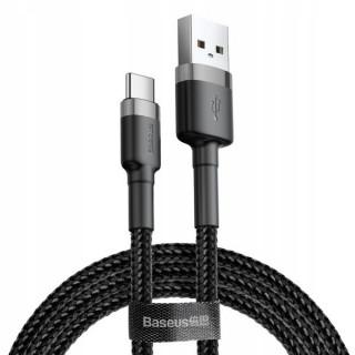 Kabel Baseus Cafule USB pro Type-C 2A 2M (šedo-černý)