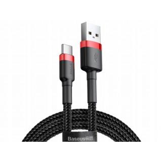 Kabel Baseus Cafule USB pro Type-C 2A 2M (červeno-černý)