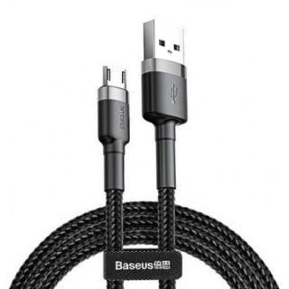 Cafule Cable USB to Micro 2.4A 0.5m (Gray+Black)