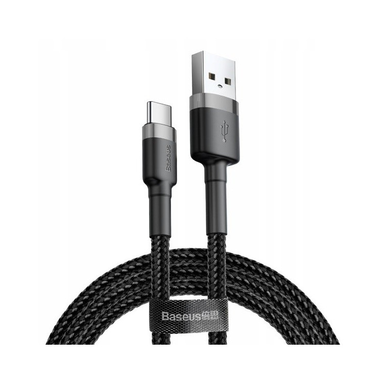 Cafule Cable USB to Type-C 3.0A 1m (Gray+Black)