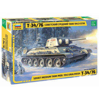 Model Kit tank 3689 - T-34/76 mod.1943 Uralmash (1:35)