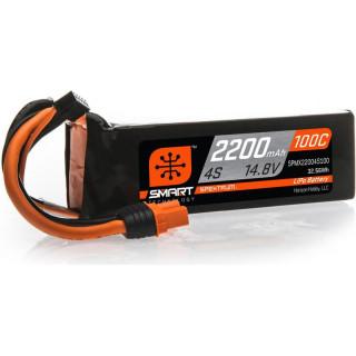 Spektrum Smart LiPo 14.8V 2200mAh 100C IC3