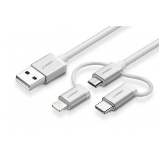 UGREEN USB 2.0 multifunkční kabel 1m, bílý