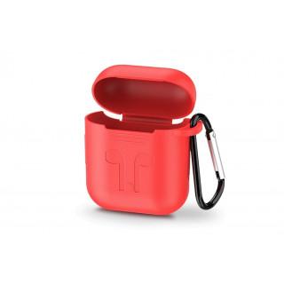 UGREEN AirPods silikonový obal s karabinou, červený