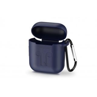 UGREEN AirPods silikonový obal s karabinou, tmavě modrý