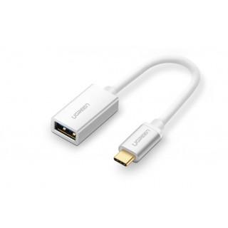 UGREEN USB-C OTG adaptér 10cm, stříbrný