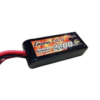 Gens ace 2200mAh 7.4V 25C 2S1P Lipo baterie s původní Traxxas konektorem