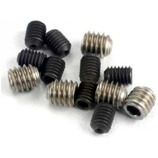 Červíky imbus ocel M3x4mm (4), nerez M4x4mm (4)