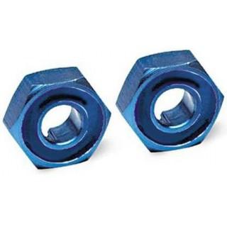 Traxxas - náboj kola hliníkový modrý s čepy (2)