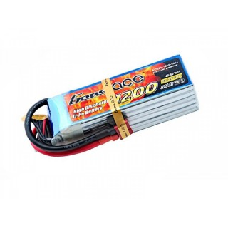 Gens ace 1200mAh 22.2V 40C 6S1P Lipo Battery Pack
