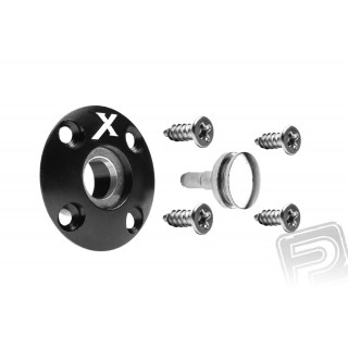 Tankovací ventil magnetický (X logo), černý