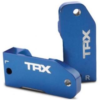 Traxxas - závěs těhlice hliník modrý 30° (L+P)