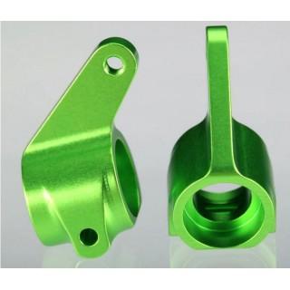 Traxxas - těhlice přední hliník zelený (2)