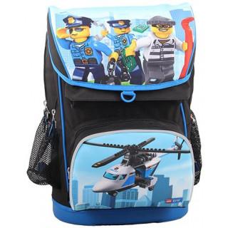 LEGO školní aktovka Maxi, 2 dílný set - CITY Police Chopper