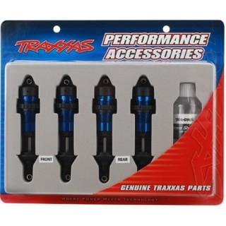 Traxxas - tlumič GTR hliník modrý (2)
