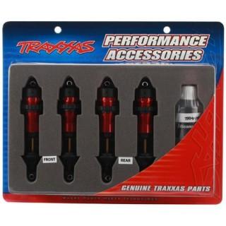 Traxxas - tlumič GTR hliník červený (2)