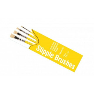 Humbrol Stipple Brush pack AG430 - sada plochých štětců (velikost 3/5/7/10)