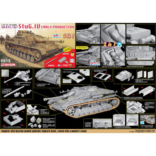 Model Kit tank 6615 - StuG.IV Early Production (2 in 1) (1:35)