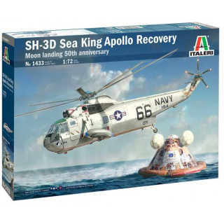 Model Kit vrtulník 1433 - SH-3D Sea King Apollo Recovery (1:72)