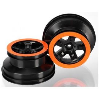 """Disk kola přední 2.2/3.0"""" SCT černý/oranžový (2)"""