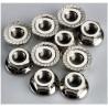 Matice s přírubou ocel zink. M4 (10)