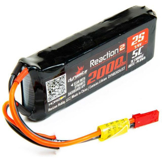 Dynamite LiPo Reaction2 7.4V 2000mAh 5C Rx
