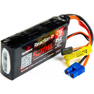 Dynamite LiPo Reaction2 7.4V 5200mAh 2S 15C Rx