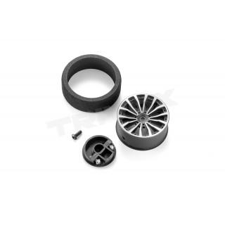 Hliníkový volant 2 černý