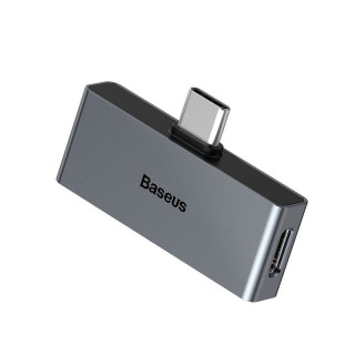 Adapter audio Baseus L57 USB-C na USB-C + minijack 3,5mm, QC 3.0, PD (Gray)