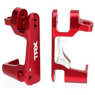 Traxxas - hliníkový závěs těhlice červený (P+L)