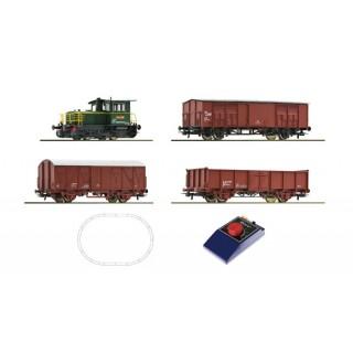 Analógový štartovací set dieselovej lokomotívy s nákladnými vagónmi, FS