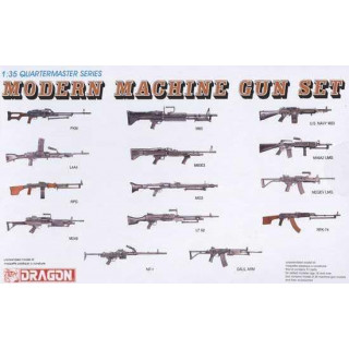 Model Kit zbraně 3806 - MODERN MACHINE GUN SET