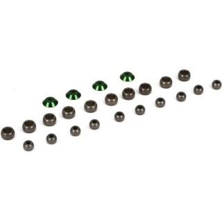 V100: Kulové čepy tvrzený hliník