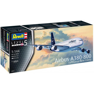 Plastic ModelKit letadlo 03872 - Airbus A380-800 Lufthansa New Livery (1:144)