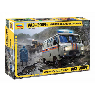 "Model Kit auto 43002 – Emergency Service UAZ ""3909"" (1:43)"